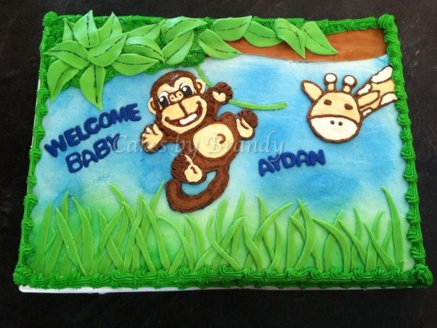 it's a zoo in here (shower cake)