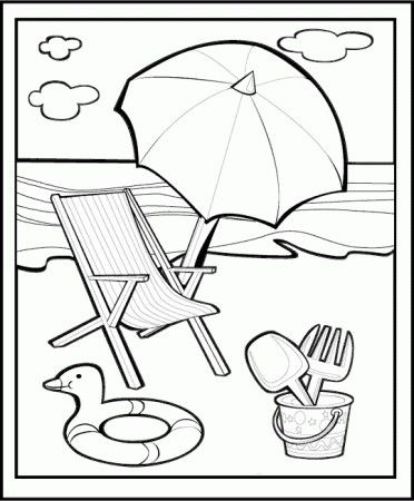 Disegni Da Colorare Mare Spiaggia Cerca Con Google קיץ Summer