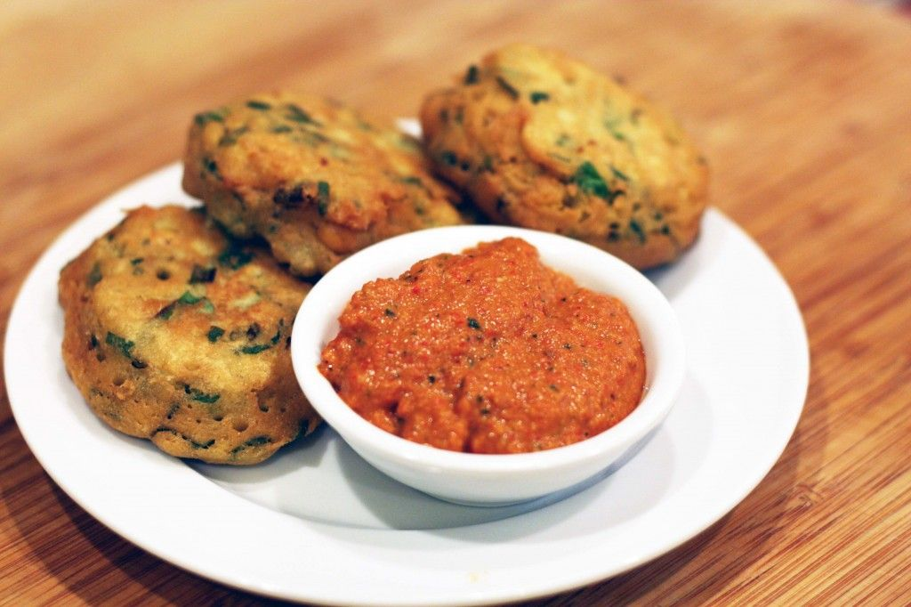Spanish chickpea fritters with romesco sauce vegan food the direction i am moving toward is vegan recipes that dont imitate their non vegan cousins thats one reason i like this spanish chickpea fritters with forumfinder Images
