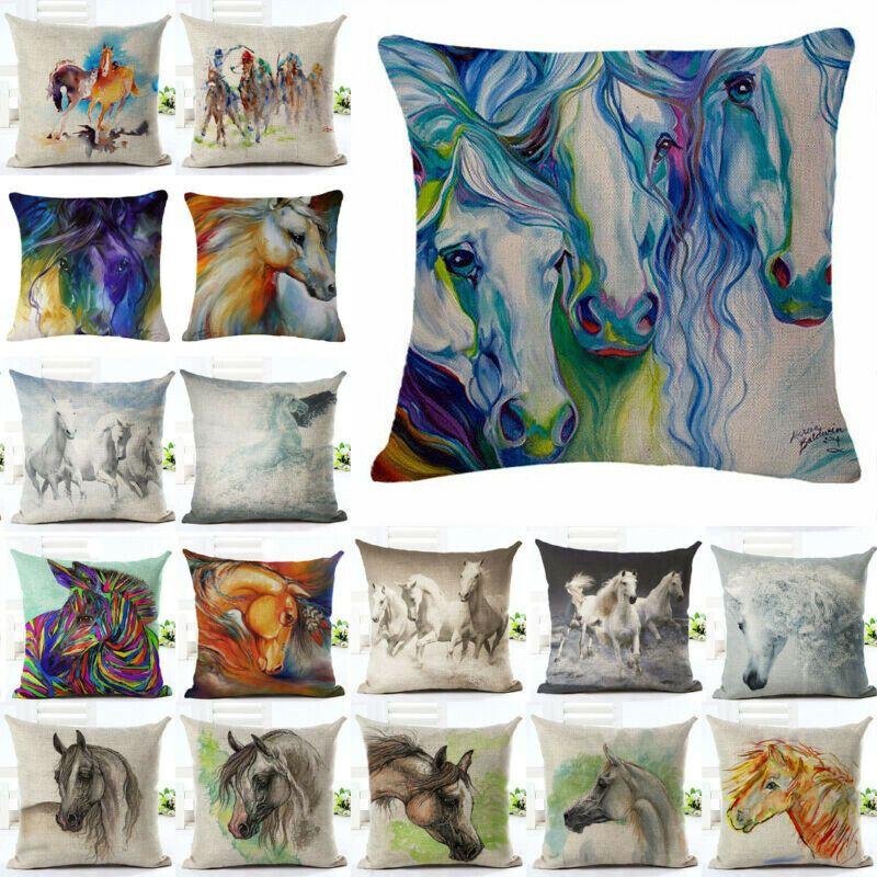 18/'/' Retro Animal Pillow Case Cotton Linen Throw Cushion Cover Home Decor