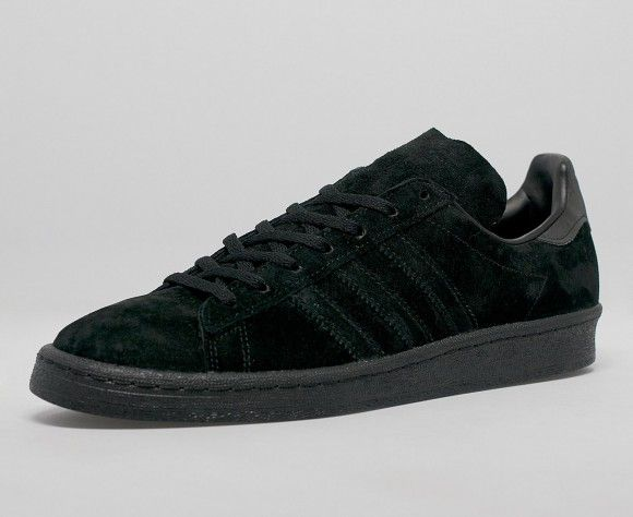quality design 2f8d2 b2166 adidas Campus 80s Triple Black Suede
