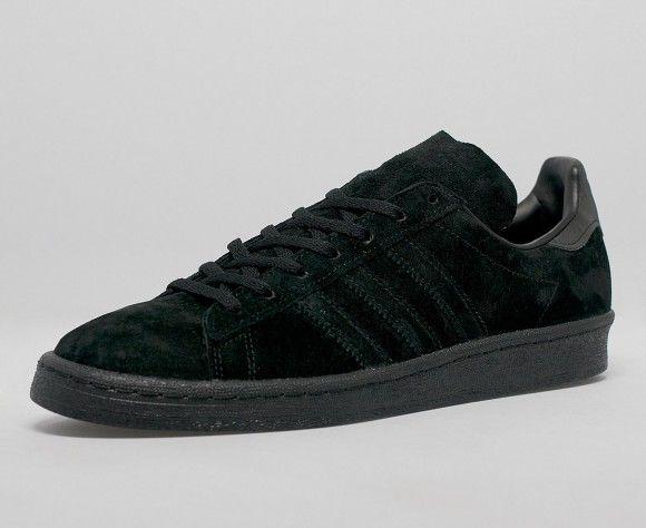 quality design d3032 b5a1c adidas Campus 80s Triple Black Suede