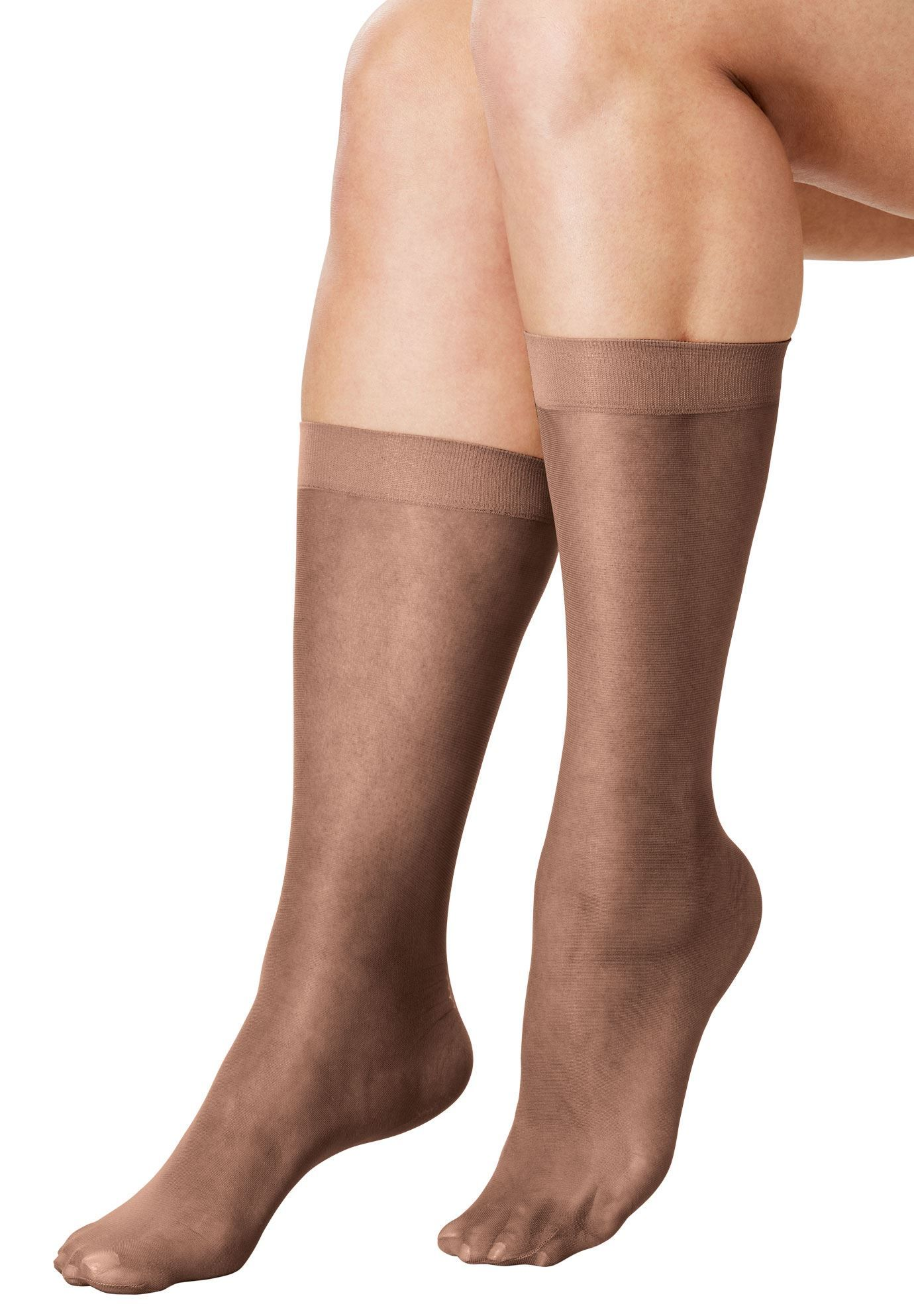 db7eedd21 6-Pack Sheer Knee-High Socks by Comfort Choice - Women s Plus Size Clothing