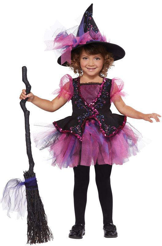 Darling Little Witch Toddler Costume (Pink) - Pure Costumes ...