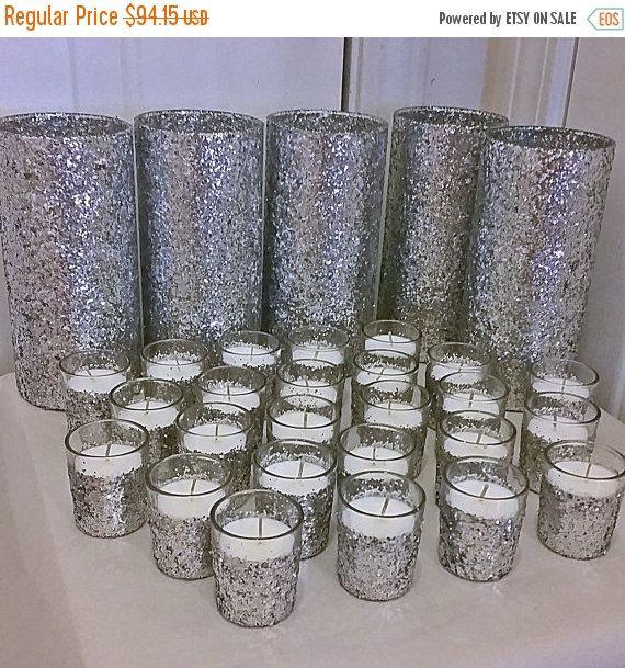 ON SALE Silver Wedding Centerpiece Set By EverydayDesignEvents