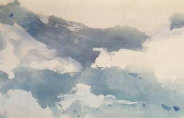 """Saatchi Art Artist Jane Du Brin; Painting, """"cloudscape in gray"""" #art"""