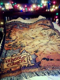 The Hobbit An Unexpected Journey Map Of Middle Earth Woven Tapestry