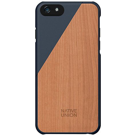 iPhone 6 // Clic Wooden Case // Black // Natural // Native Union