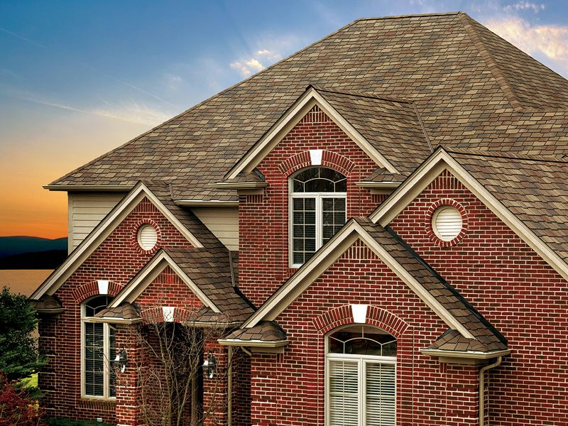 Tuscan Sunset gaf designer roof shingles home