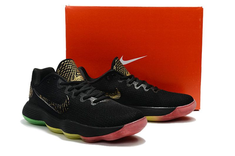 best authentic cacae 4fa82 New Hyperdunk Men Basketball Shoes Size 9 10.5 2017 EP Low Colorways Rise  and Shine Rainbow Black