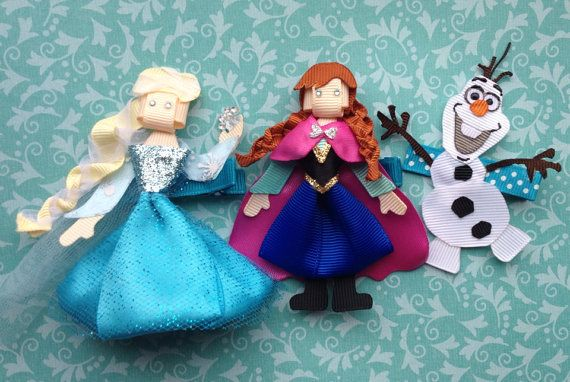 Frozen Inspired Clips by christinaland128 on Etsy, $29.00