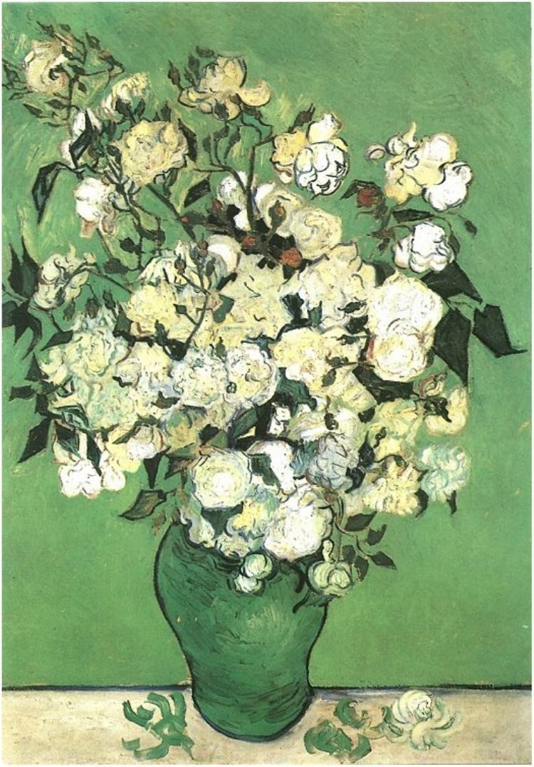 Un Vase De Roses 1890 Art De Van Gogh Peinture