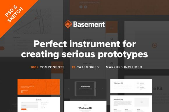 Check Out Basement Wireframe Kit 48 By Great Simple On Creative Cool Basement Design Software Creative