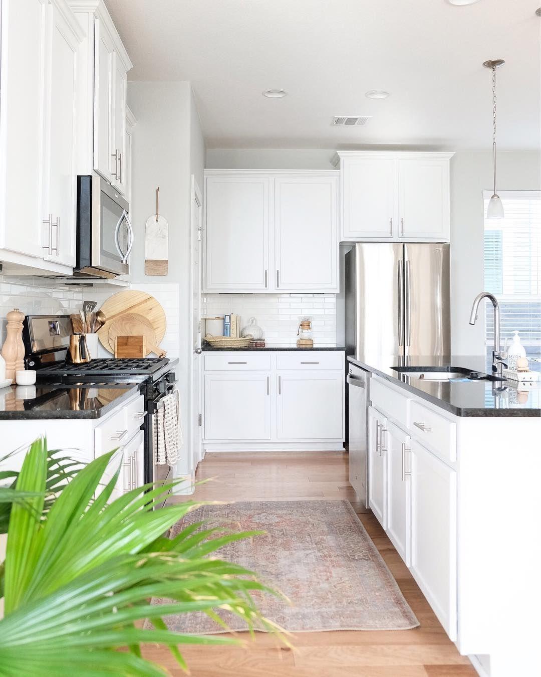 Bright White Coastal Kitchen With A Vintage Rug Rugmadetheroom