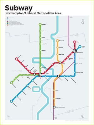 Transit Authority Figures Northampton Amherst Subway Map Subway Map Subway Map Design Map