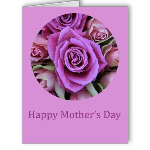 happy mothers day rose card big greeting card - Big Greeting Cards