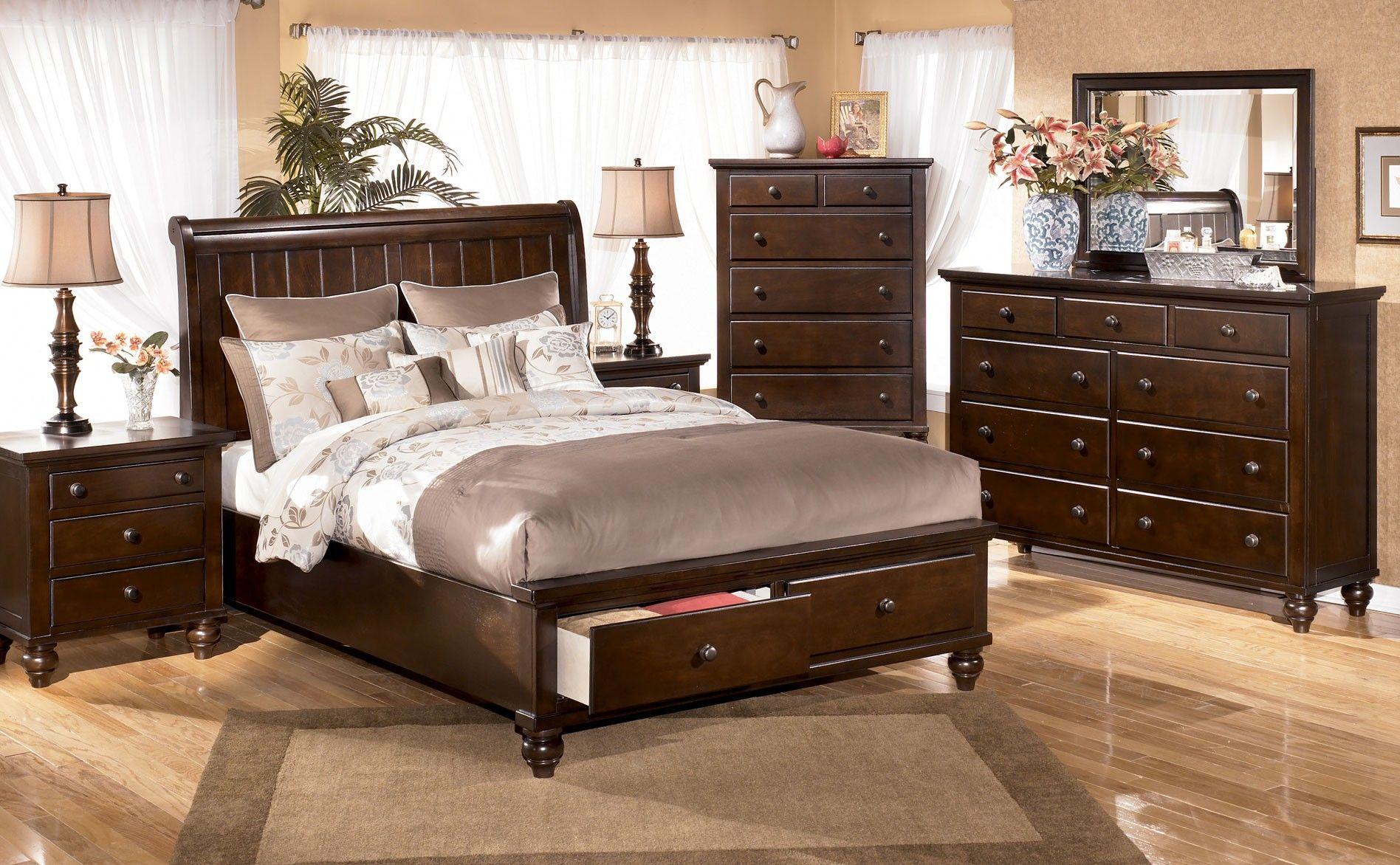 ashley camdyn king sleigh bedroom group with storage
