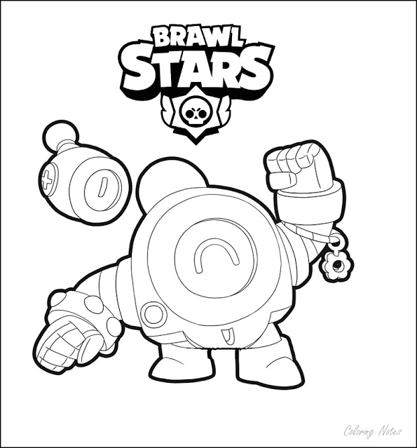 Coloring Pages Brawl Stars Nani Star Coloring Pages Coloring Pages Brawl