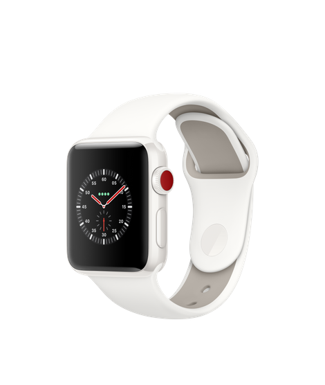 Apple Watch Edition White Ceramic Case With Soft White Pebble Sport Band Apple Apple Watch Apple Watch Series 3 White Ceramics