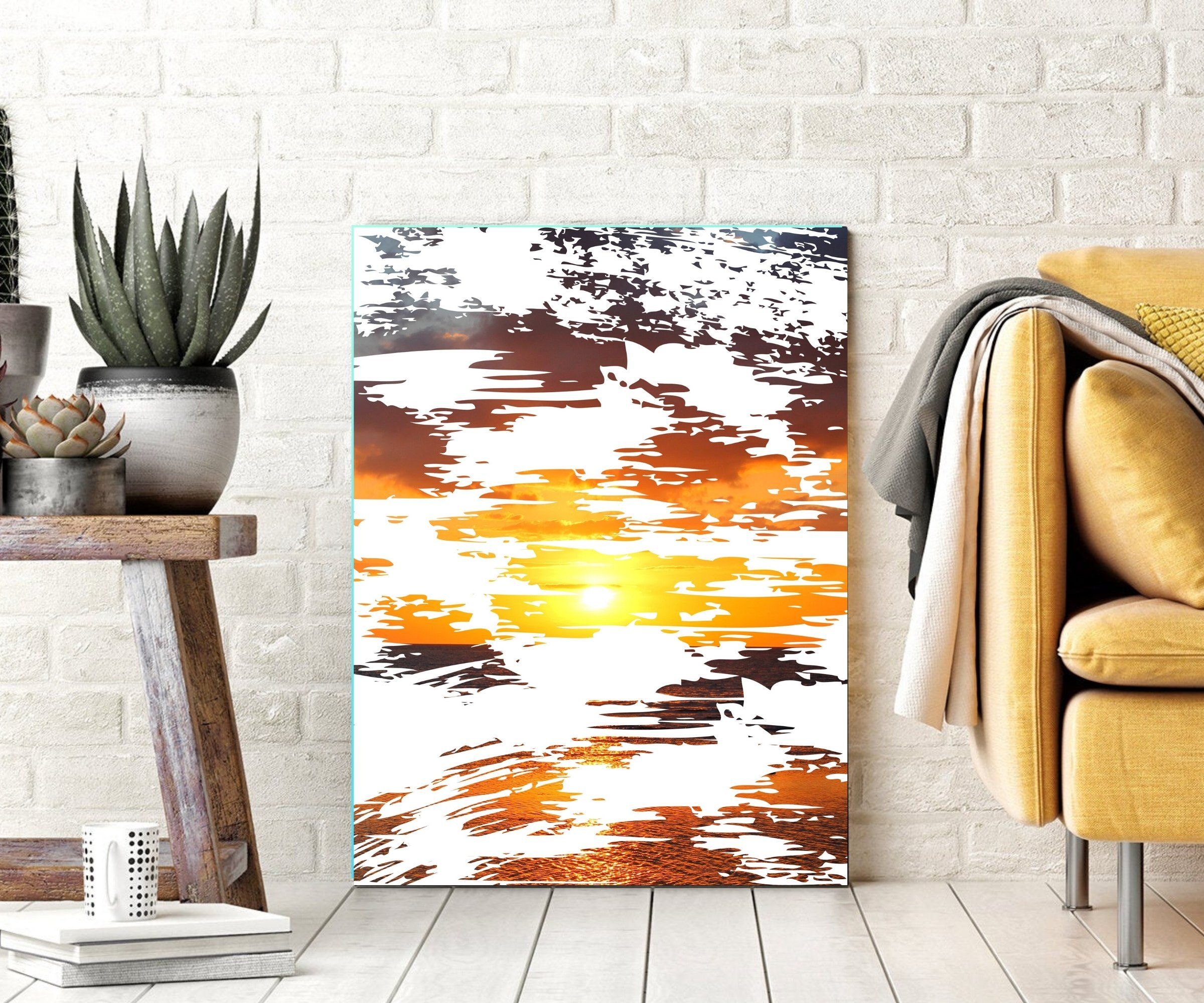 Photo of Abstract shape sunset Canvas Prints Wall Decor – 30×40
