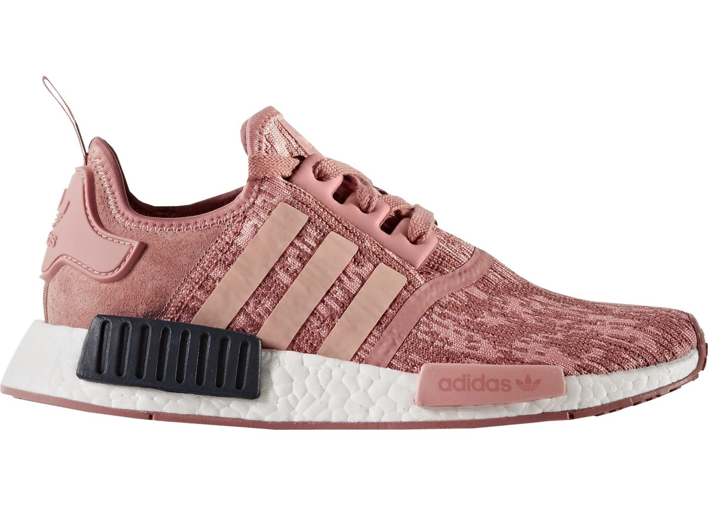 Adidas NMD R1 Raw Pink White Trainer Pink with bright and