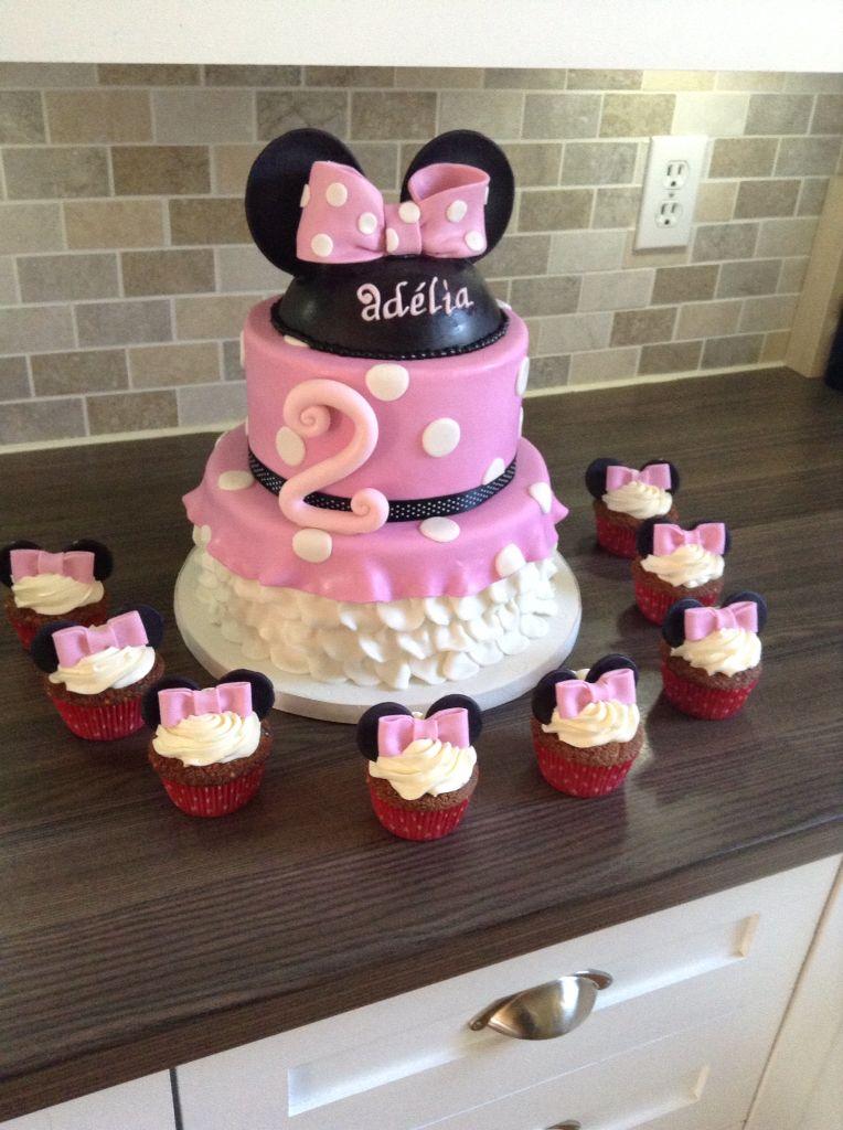 Minnie Mousse et ses cupcakes!