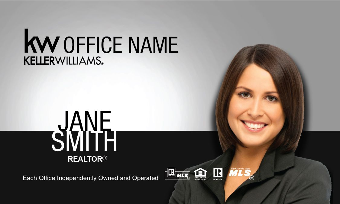 Silver and Black Keller Williams Business Card | Real Estate Agent ...
