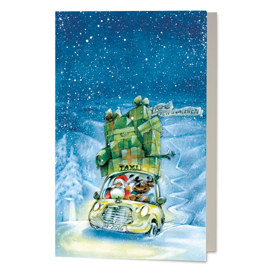 Wwf Weihnachtskarten.Lustige Weihnachtskarten Taxi Online Bestellen Weihnachtskarten