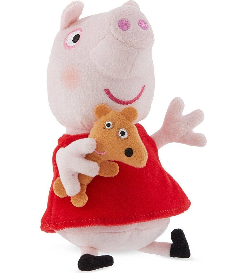 Peppa Pig Peppa With Teddy Plush Soft Toy Beanie 7 18cm Brand New By Bunkysvintagecrafts On Etsy Peppa Pig Plush Soft Toy [ 1129 x 1020 Pixel ]