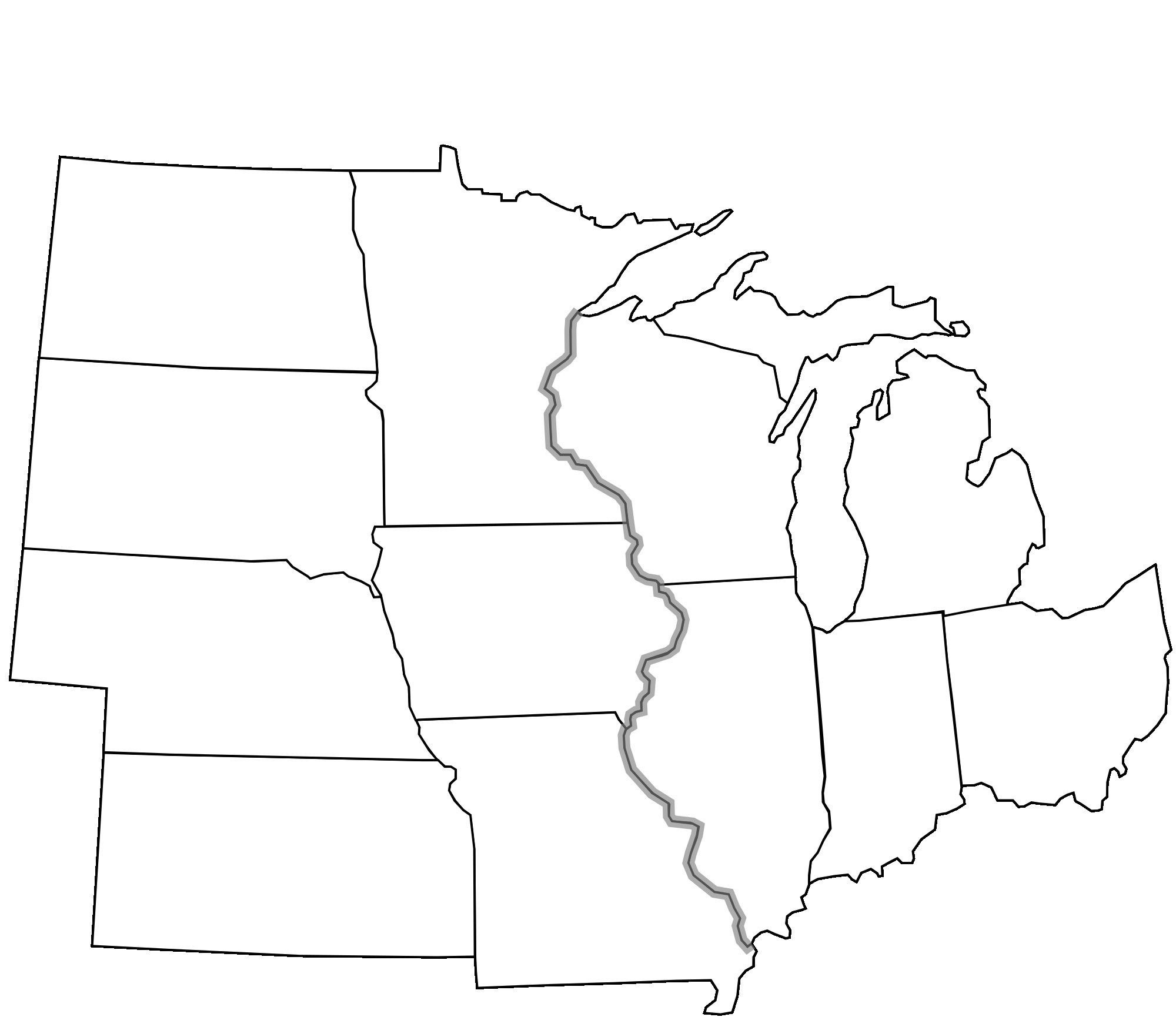Us Midwest Region Map Blank Us Midwest Region Map Blank ...