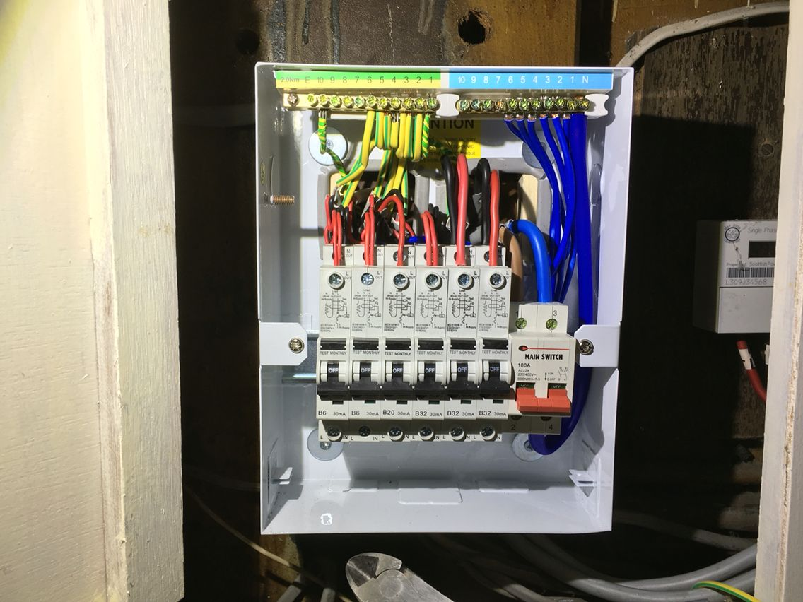 Installed a RCBO Consumer Unit Installation
