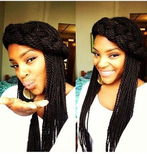 12 Senegalese Twist Hairstyles for Black Women | herinterest.com ...