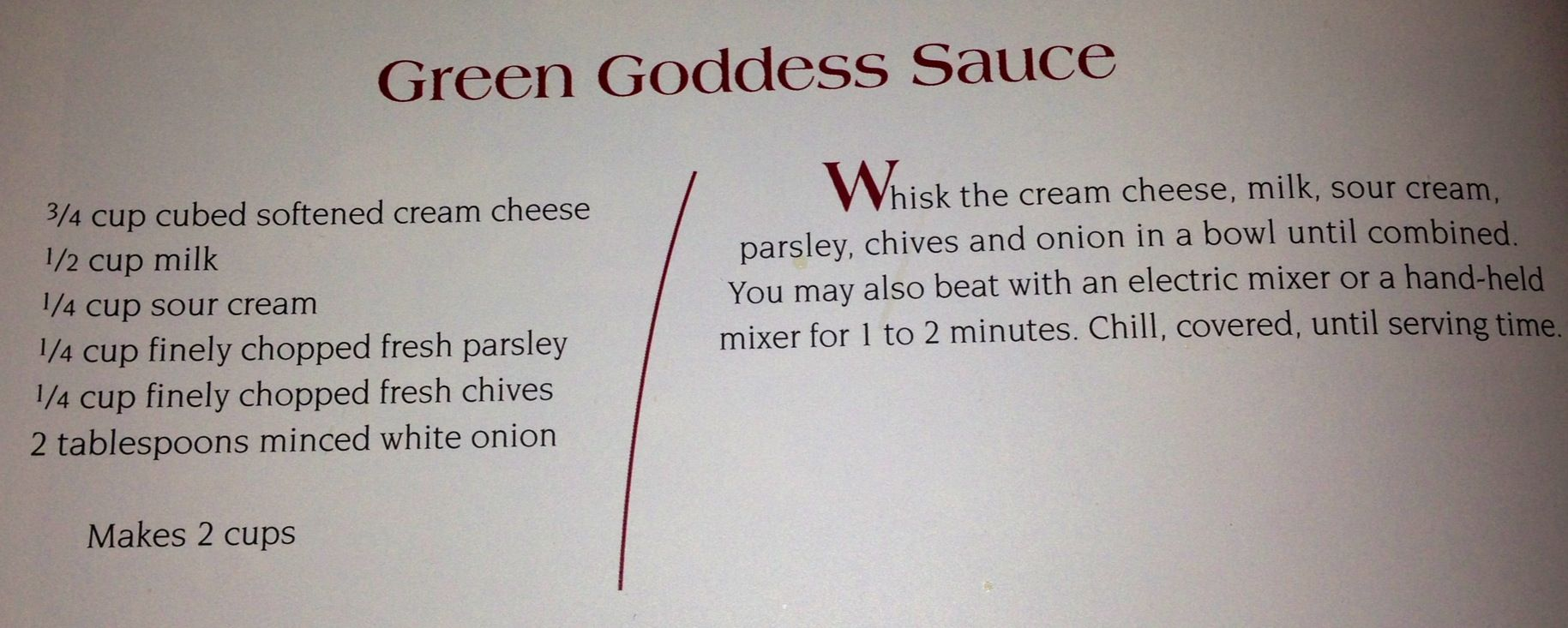 Green Goddess Sauce at the Melting Pot                                                                                                                                                                                 More #brothfonduerecipes
