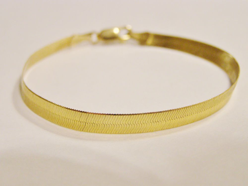 mens gold bracelet co yellow inches mm avianne link cuban bracelets solid