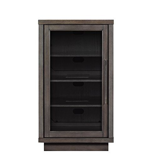 Pamari 200439 Zanica Stereo Cabinet With Gl Door Tifton Oak For More Information