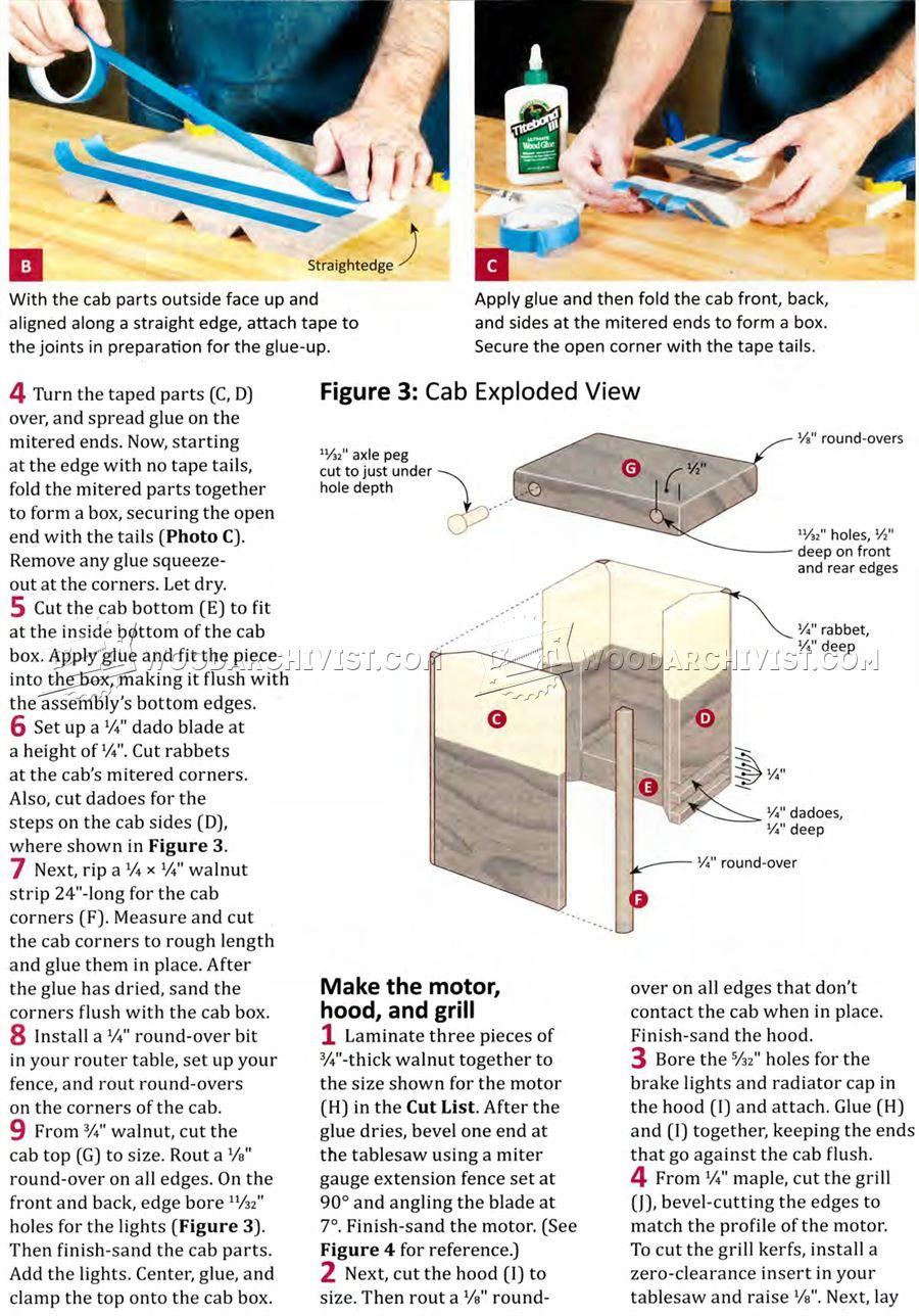 2764 wooden front end loader plans - wooden toy plans
