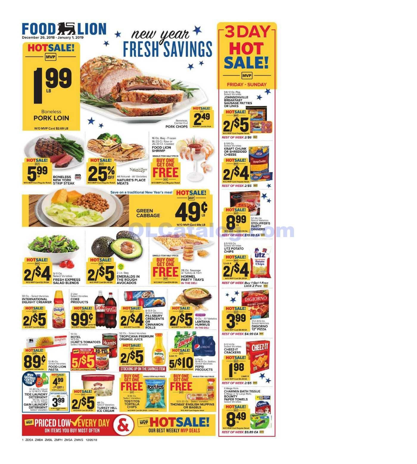 Food Lion Weekly Ad December 26 January 1 2018 Do You Know