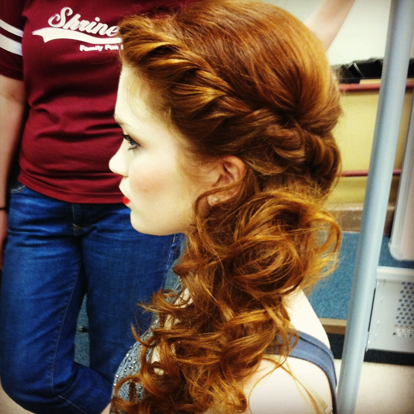 Side updo peinados pinterest hair prom hair and hair styles