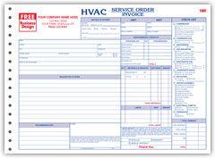 Side Stub Hvac Service Order Forms  Size  X