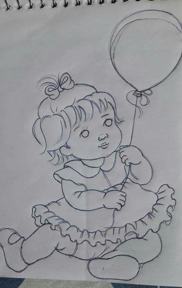 Risco De Menina Com Imagens Desenho De Coroas Riscos Para
