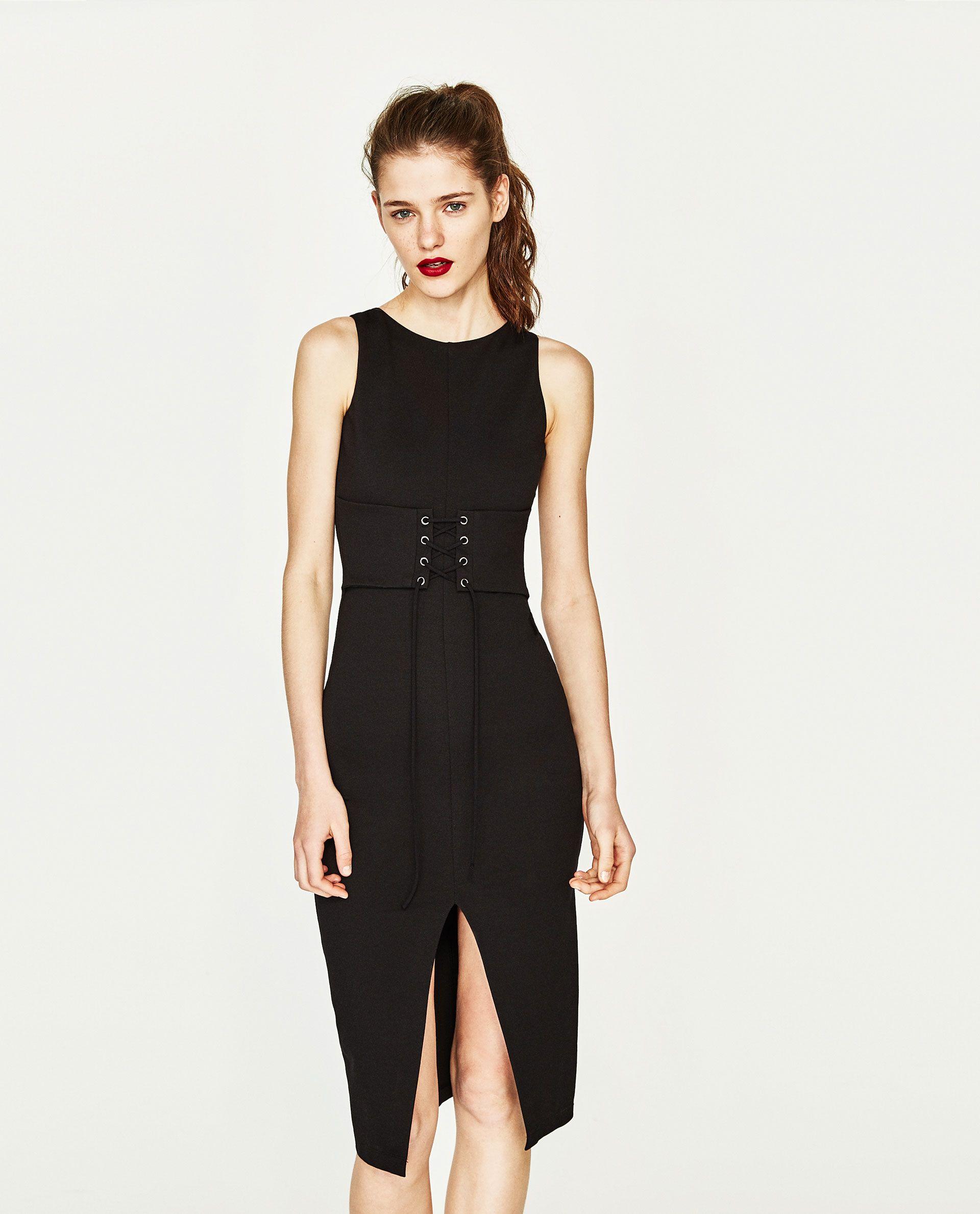 ZARA BLACK CORSET DRESS   Zara   Dresses, Zara, Black corset dress 6e5be4c7f97