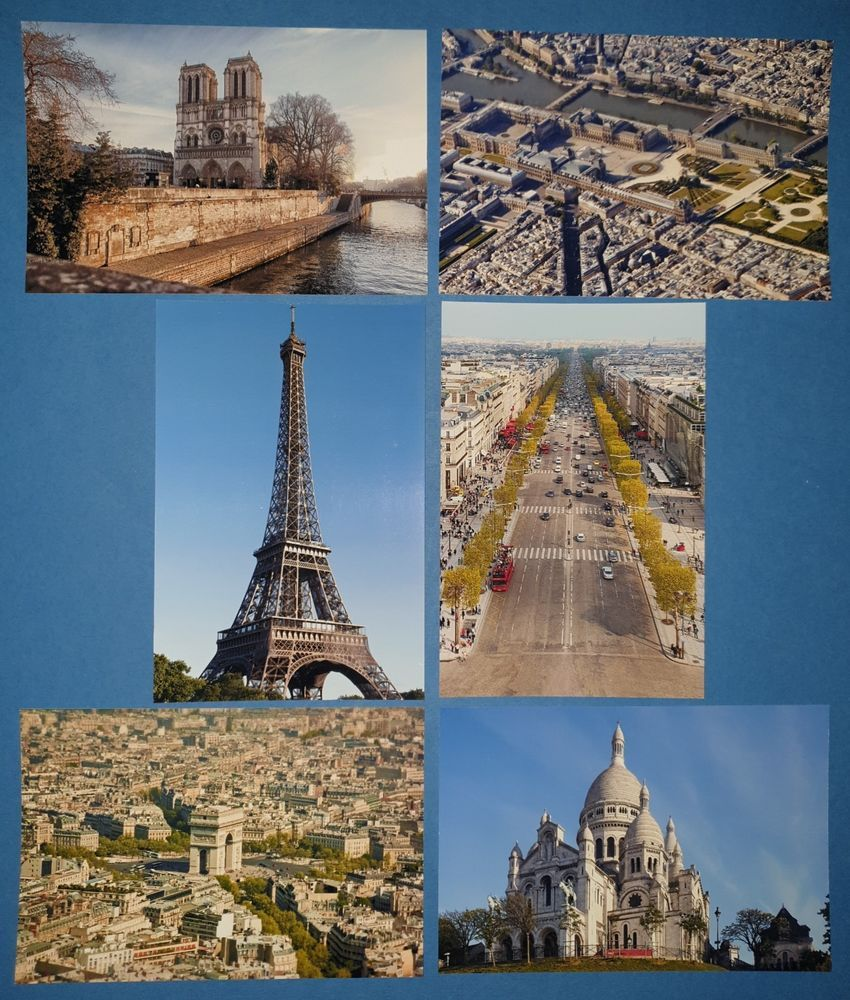 Details about Set of 6 Brand New Glossy Postcards, Paris