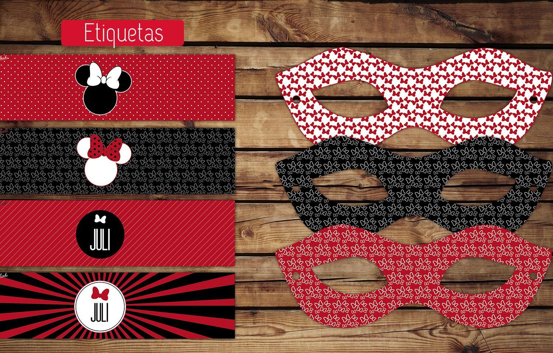 Kit Cumple Imprimible Minnie Especial + Candy Bar | Etiquetas para ...