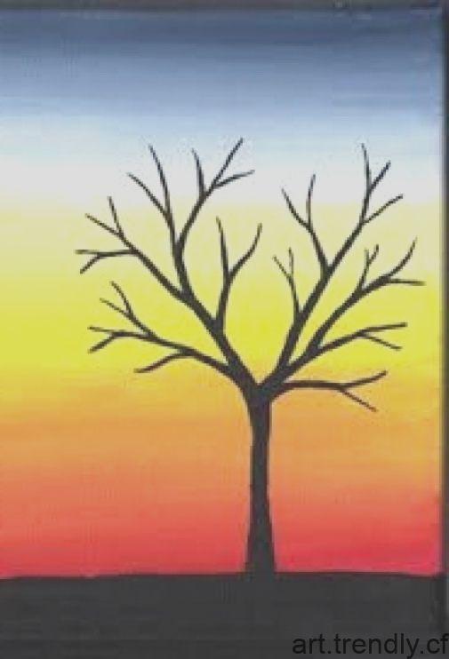 Resultat D Image Pour Des Peintures Sur Toile Faciles Pour Les Debutants Etape Par Etape Paysage Peinture Facile Peinture Sur Toile Peinture Sur Toile Facile