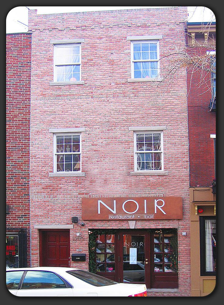 Noir Restaurant East Passyunk Ave Philly United States Travel