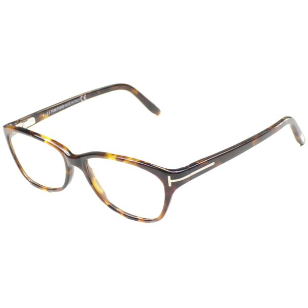 34407d9a61b38 Tom Ford Womens TF5142 FT5142 052 Spotted Brown Rectangle Plastic Eyeglasses