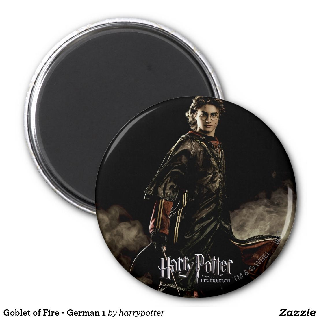 Goblet of Fire - German 1 2 Inch Round Magnet
