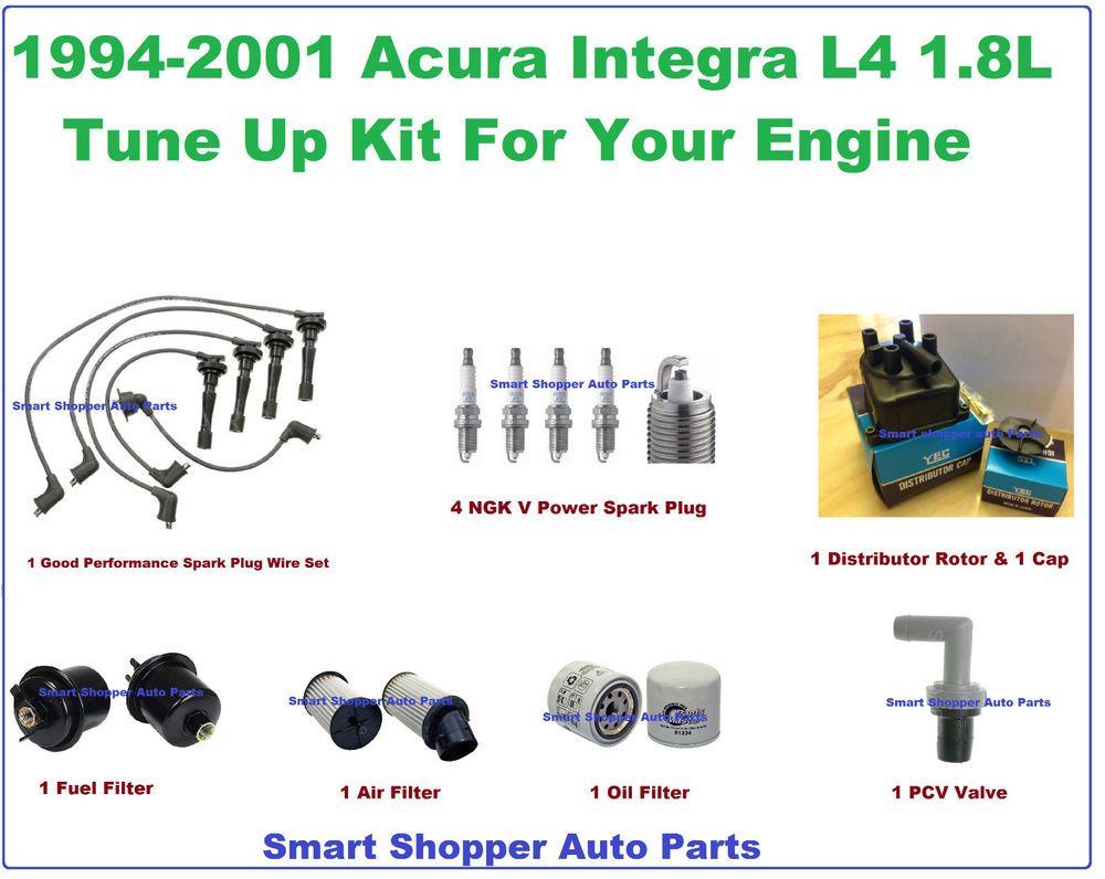 94-01 Acura Integra Tune Up Kit: Spark Plug Wire Set, Engine Filter ...