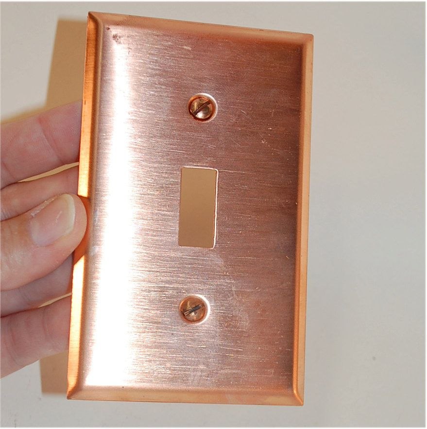 copper light switch wall plate