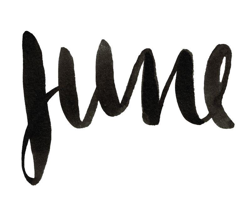 June lettering maesla design pinterest